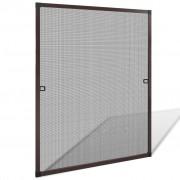 vidaXL Plasă de insecte pentru ferestre, maro, 80 x 100 cm