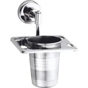 Stainless Steel Tooth Brush Stand - Tumbler Holder - for Bathroom