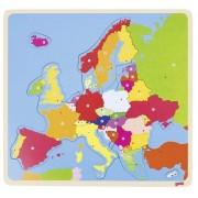 Drewniane puzzle Europa, 35 el.