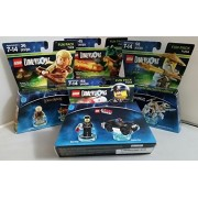 Lego Dimensions Fun Pack Bundle 4 packs: Legolas, Ninjago Sensei Wu, Chima Cragger, Bad Cop