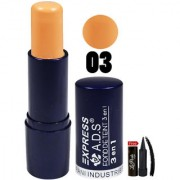 ADS Express Found Detente 3en1 All Day Makeup Concealer-03 With Free LaPerla Kajal