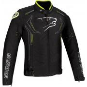Bering Guardian Revestimento de têxteis da motocicleta Preto Branco Amarelo XL