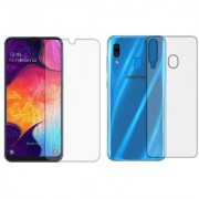 Samsung Galaxy A30 Front Back Unbreakable Screen Protector with Hammer Proof Protection Impossible Screen Guard Scratch Resistant