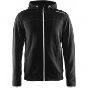 Craft Leisure Fleece Zip Hoodie Men - Male - Zwart - Grootte: Medium