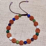 Bratara zodia Pesti cu rudraksha si pietre semipretioase