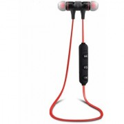 Sports Magnet Wireless Bluetooth Earphone Headset Headphone With lock Type For All Mobiles RED Colour