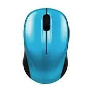 Verbatim GO NANO 97668 Mouse - Radio Frequency - USB - Optical - 3 Button(s) - Caribbean Blue