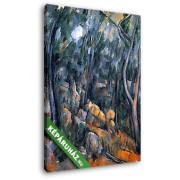 Paul Cézanne: Sziklák az erdőben Chateau Noir környékén (20x25 cm, Vászonkép )