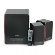 Тонколона Microlab FC530U, 2.1, RMS 64W (2x18W + 28W), 3.5mm jack/RCA/USB, кафяв, FM радио както и SD карта четец