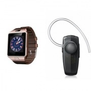 Mirza DZ09 Smartwatch and HM1100 Bluetooth Headphone for SONY xperia z ultra(DZ09 Smart Watch With 4G Sim Card Memory Card| HM1100 Bluetooth Headphone)