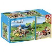 PLAYMOBIL 40th Anniversary Pony Pasture Compact Set and Pony Wagon