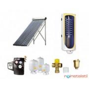 Sistem panou solar tuburi vidate 1-2 pers, boiler 1 serpentina