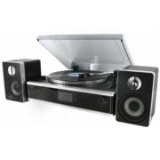 Soundmaster PL875 - Platenspeler met encoding functie, CD/MP3, radio, USB aansluiting zwart