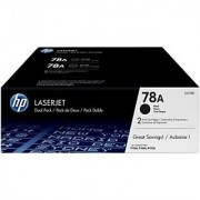 HP 78A Black Dual Pack LasetJet Toner Cartridge (Dual Pack)