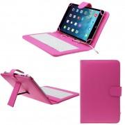 Husa Tableta 9.7 Inch Cu Tastatura Micro Usb Model X , Roz , Tip Mapa