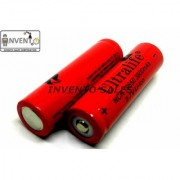 Invento 2pcs 3.7V 3800mah 18650 Li-ion Rechargeable Battery Cell with 1pcs 2 cell 18650 Plug Universal Li-ion Charger