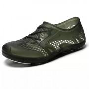 Holle ademende comfortabele niet-slip waden schoenen gat schoenen voor mannen (kleur: groen maat: 44)