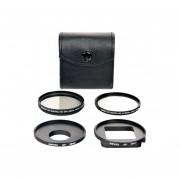 Kit Filtros BOWER GO PRO UV CP Polarizado Adaptadores Anillo Estuche Para HERO 3/ 3+
