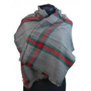 NEW BERRY dámská pletená šála / pléd BC717 středně šedá