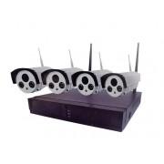 Wifi vezeték nélküli 4 kamerás megfigyelő rendszer