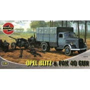 Airfix A02315 1:76 Scale Opel Blitz and Pak 40 Military Vehicles Classic Kit Series 2