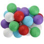 Коледна светлинна украса LED осветление [in.tec]®, тип гирлянда, цветни топки, 2,3m
