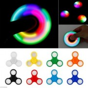 LED Light Tri-spinner Fidget Toy Hand Spinner (colour may vary)