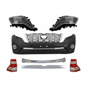 Bodykit kit estetico completo restyling TUNING per TOYOTA LAND CRUISER Prado 2009-2013 in look 2013- paraurti anteriore fari anteriori posteriori