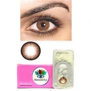Attractive Diamond Eye UNISEX BROWN Color MONTHLY disposable CONTACT LENSES (ZERO POWER)