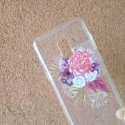 Калъф за Samsung A8 2018 Flowers кейс прозрачен