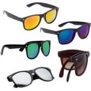Elligator Wayfarer Sunglasses(Brown, Green, Blue, Silver, Yellow)