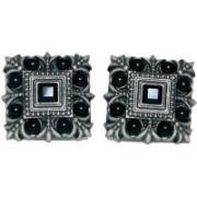 Blacksmithh Metal Cufflink(Black)
