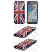 Samsung Galaxy Note II N7100 (калъф пластик) 'Flag style'