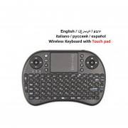 I8 Teclado Inalámbrico Air Mouse Control Remoto Touchpad (Negro)