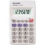 Calculator Sharp EL-233S de buzunar,8 digits,103x60x8mm,alb