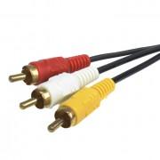Cable de audio 3RCA M-M de 15 metros X-Case RCACA3M15