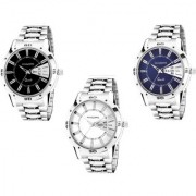 Invaders INV-COMBO-305 Day And Date Combo Mens Stainless Steel Watches