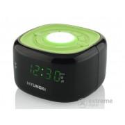 Ceas desteptator Hyundai HYURAC340PLLBW cu radio, negru-verde