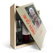 YourSurprise Coffret vin rouge avec 2 verres - Salentein Primus Malbec - Couvercle imprimé