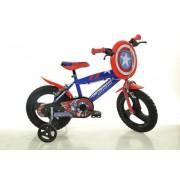 "Bicicleta copii DINO BIKES 414UL CA, Roti 14"", Capitan America"
