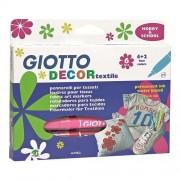 Fila Conf. 6 Pennarelli Per Tessuti Giotto Decor Textile Colori Assortiti