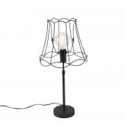 QAZQA Table lamp black with Granny Frame 30 cm adjustable - Parte