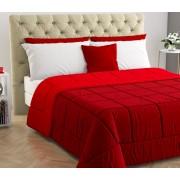 Blanco 170207 Trapunta Invernale Matrimoniale 260x260 Cm In Microfibra E Fibra Anallergica Double Face Tinta Unita Colore Red / Chery - 170207