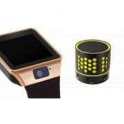 Zemini DZ09 Smartwatch and S10 Bluetooth Speaker for SAMSUNG GALAXY CORE PRIME VE(DZ09 Smart Watch With 4G Sim Card Memory Card| S10 Bluetooth Speaker)