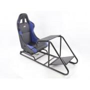 FK-Automotive siège de jeu pour PC et consoles de jeux cuir synthétique noir / bleu