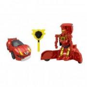 Robot Transformer rosu masina