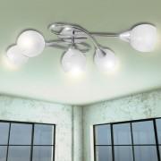 Лампа за таван с 5 стъклени абажура, крушки тип Е14
