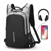 Anti-Theft Backpack for Laptop,Travel Backpacks with USB Charging Port & Headphone Hole Business Rucksack,College Student Casual Daypack Backpack for