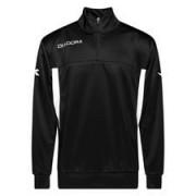 Diadora Trainingsshirt Barkly West 1/2 Zip - Zwart/Wit Kinderen