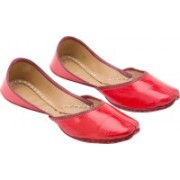Royal Collection Red Jutis For Women(Red)